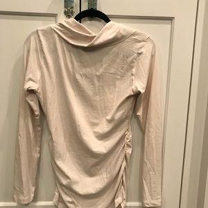 CAbi twisted cowl neck long sleeve tee shirt
